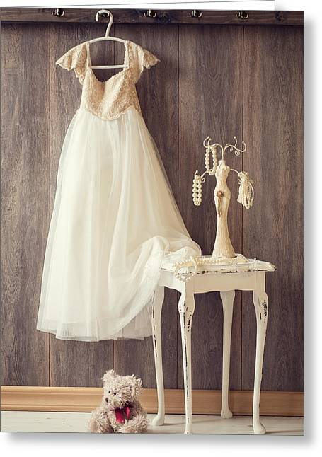 Coat Hanger Greeting Cards - Girls Bedroom Greeting Card by Amanda And Christopher Elwell