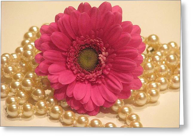 Girls Like Pearls Greeting Card by Angela Davies