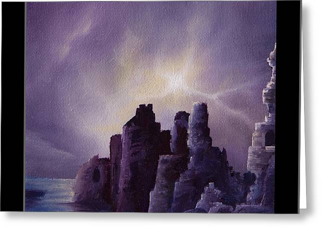 Wolfman Greeting Cards - Girnigoe Castle Greeting Card by James Christopher Hill