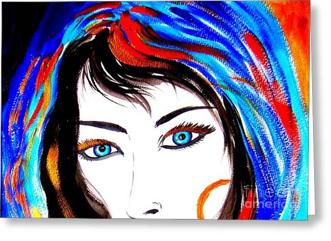 Gypsy Greeting Cards - Gitana eyes Greeting Card by Roberto Gagliardi