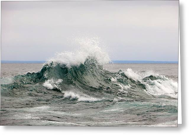 North Shore Greeting Cards - Gitche Gumee Eruption Greeting Card by Alison Gimpel