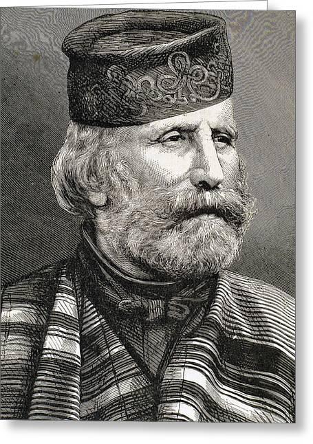 19th Century Photographs Greeting Cards - Giuseppe Garibaldi Greeting Card by Bridgeman Images