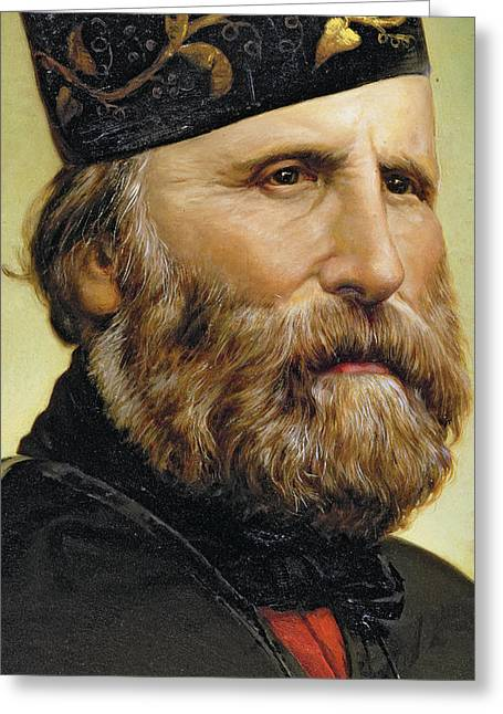 Close Up Paintings Greeting Cards - Giuseppe Garibaldi Greeting Card by Unknown