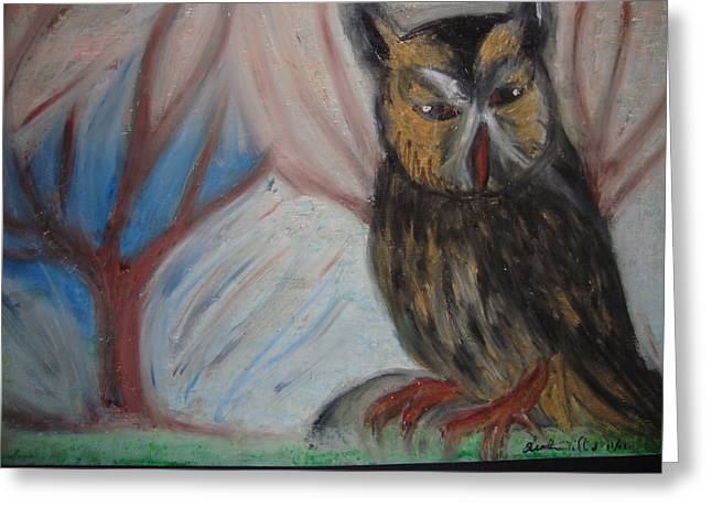Layers Pastels Greeting Cards - Give A Hoot Greeting Card by Heather Hilliard