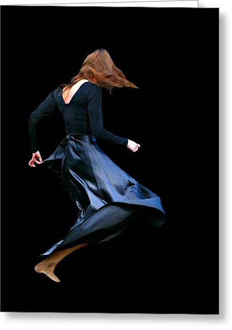 Candid Portraits Greeting Cards - Give it a Spin Greeting Card by Diana Angstadt