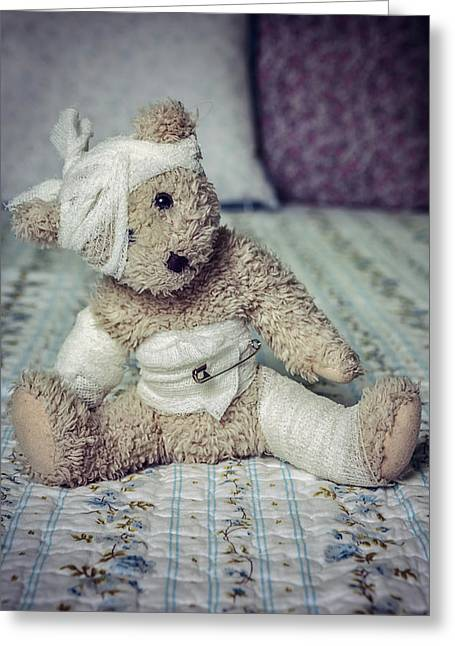 Injured Greeting Cards - Give Me Some Comfort Greeting Card by Joana Kruse