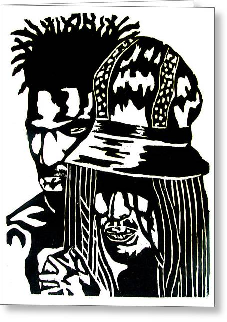 Couple Reliefs Greeting Cards - Give Me Strength Greeting Card by Patrick Carrington
