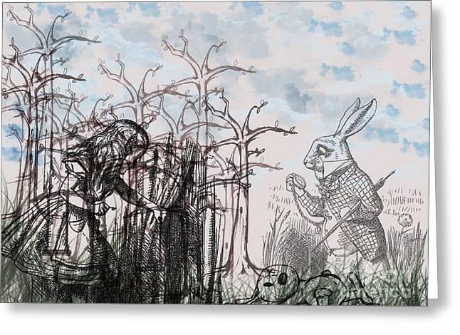 Wonderland Greeting Card by Simonne Mina