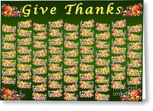Maltese Mixed Media Greeting Cards - Give Thanks Greeting Card by J McCombie