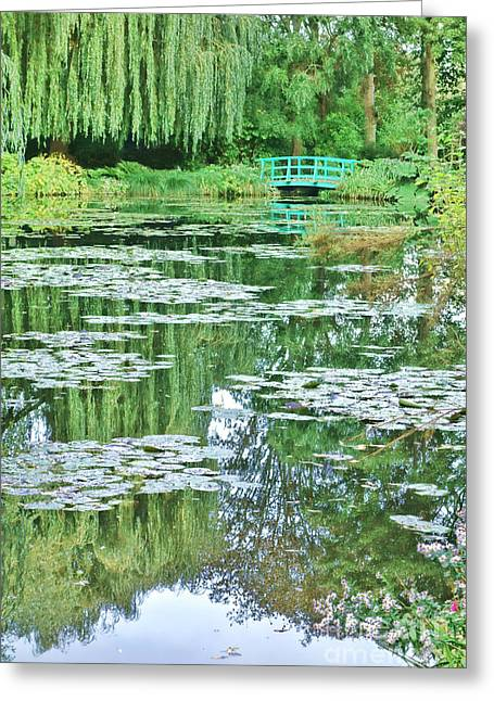 Weeping Photographs Greeting Cards - Giverny Greeting Card by Olivier Le Queinec
