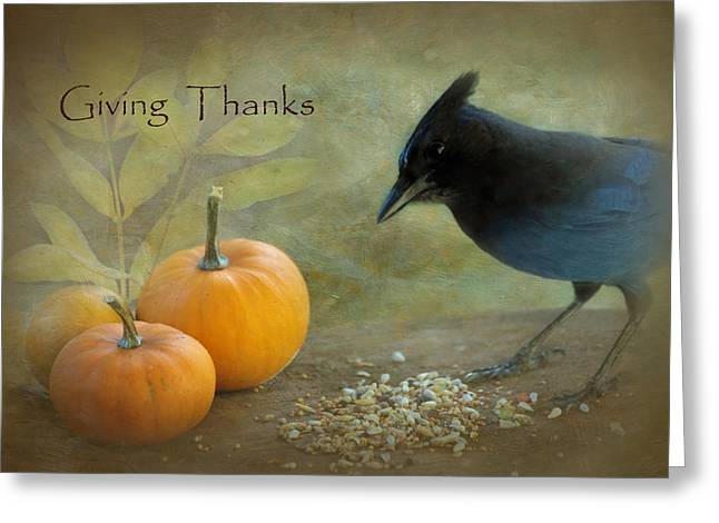 Thanks Giving Greeting Cards - Giving Thanks Greeting Card by Angie Vogel