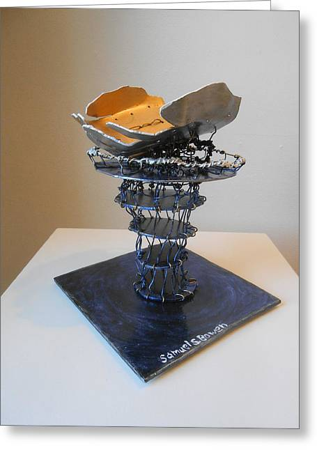Value Sculptures Greeting Cards - Giving the highest value Greeting Card by Sam Bowen