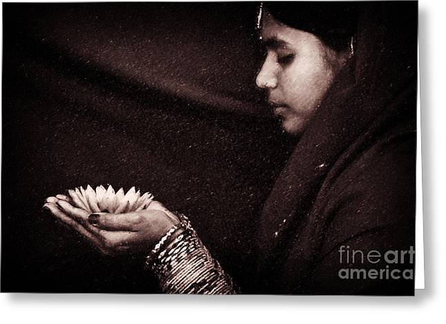 Indian Ethnicity Greeting Cards - Giving Greeting Card by Tim Gainey