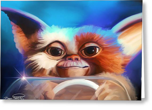 80s Greeting Cards - Gizmo Greeting Card by Brett Hardin
