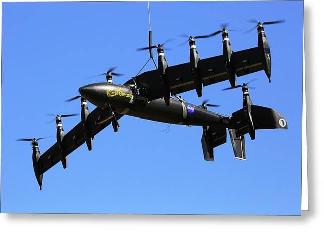 Gl-10 Greased Lightning Liftwing Aircraft Greeting Card by Nasa Langley/david C. Bowman