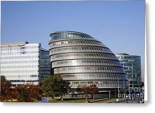 Glas Greeting Cards - GLA City Hall London Greeting Card by Robert Preston