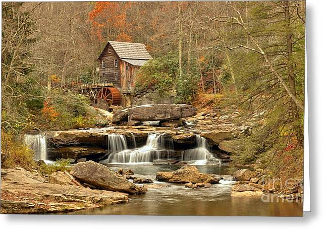 Glade Creek Grist Mill West Virginia Icon Greeting Card by Adam Jewell