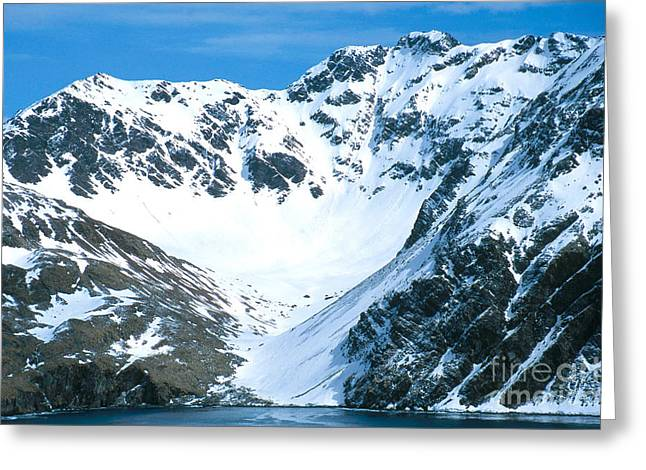 Cirque Greeting Cards - Glacial Cirque Greeting Card by Gregory G. Dimijian, M.D.