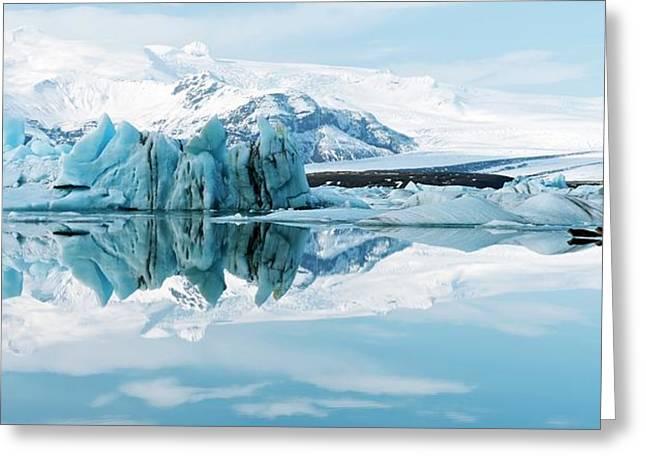 Glacial Coastal Landscape Greeting Card by Jeremy Walker