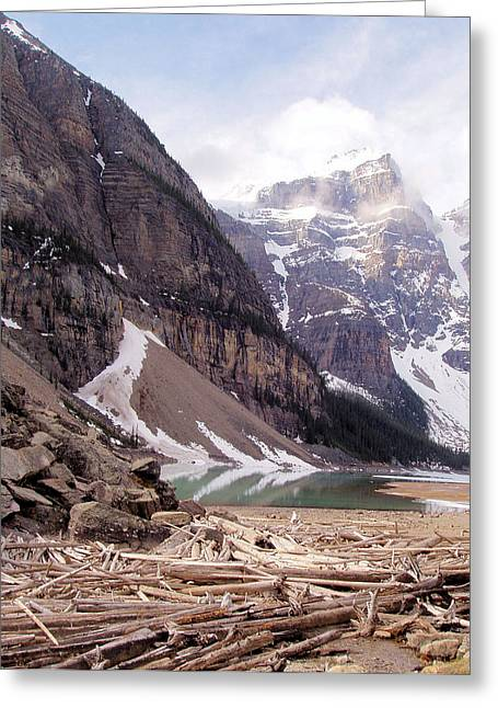 Glacial Debris Greeting Card by Jenny Hudson