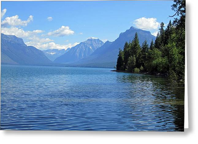 Beautiful Scenery Greeting Cards - Glacial Glistening Greeting Card by Mike Podhorzer