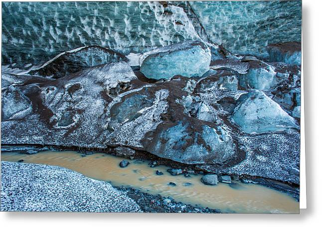 Issues Greeting Cards - Glacial Ice Cave, Fallsjokull Greeting Card by Panoramic Images