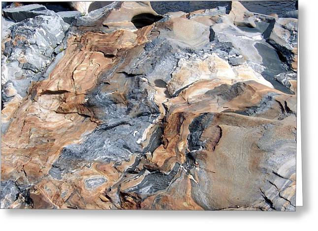 Glacial Potholes Greeting Cards - Glacial Rocks Greeting Card by Catherine Gagne