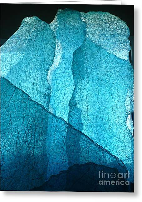 Glass Wall Glass Art Greeting Cards - Glacial Wall Greeting Card by Rick Silas