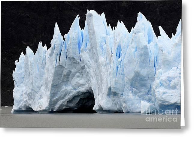 Glaciar Grey Patagonia Chile 3 Greeting Card by Bob Christopher