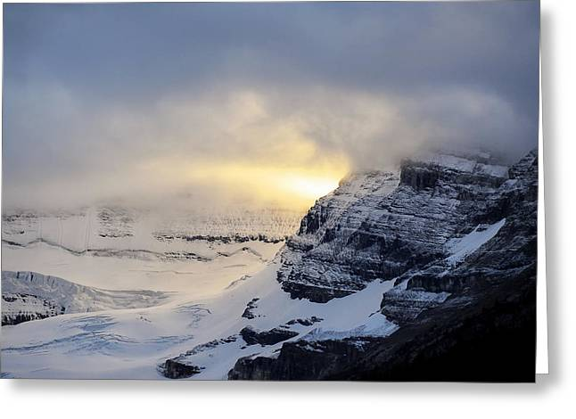 Dereske Greeting Cards - Glacier Above Lake Louise Alberta Canada Greeting Card by Mary Lee Dereske