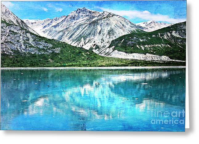 Glacier Bay Greeting Cards - Glacier Bay Textured Greeting Card by Sophie Vigneault