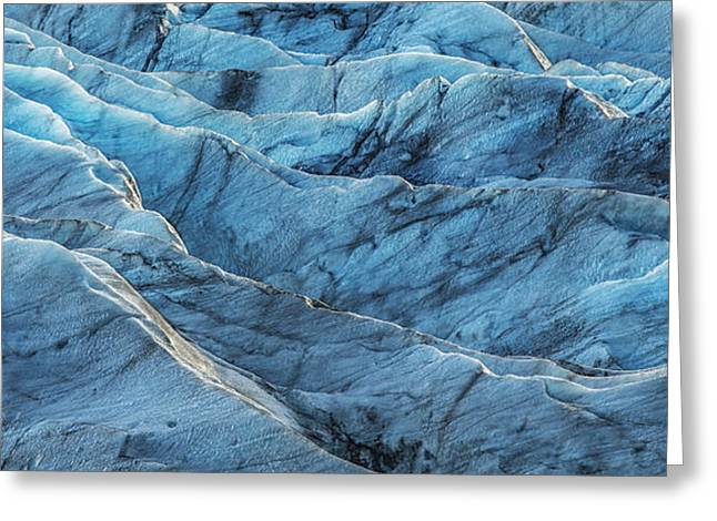 Fine Dining Canvases Greeting Cards - Glacier Blue Greeting Card by Jon Glaser