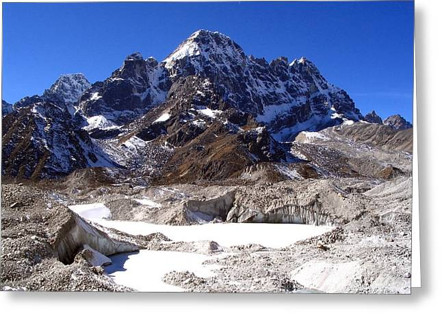 Mt Everest Base Camp Greeting Cards - Glacier Chaos Greeting Card by Tim Hester