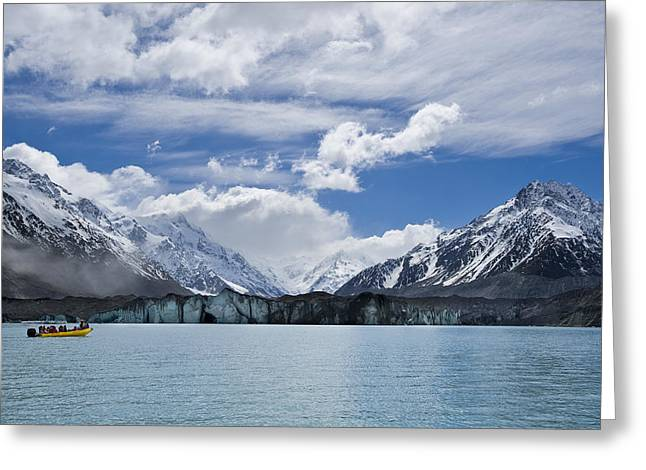 New Zealand Greeting Cards - Glacier Explorers Greeting Card by Ng Hock How