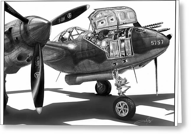 P-38 Greeting Cards - Glacier Girl Greeting Card by Dale Jackson
