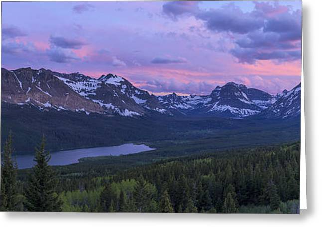 Overlook Greeting Cards - Glacier Glow Greeting Card by Chad Dutson