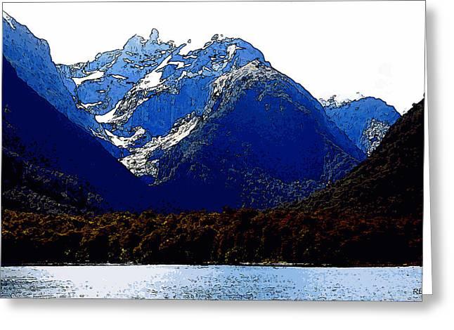 Kiwi Art Digital Art Greeting Cards - Glacier Gorge Greeting Card by Robert Pierce