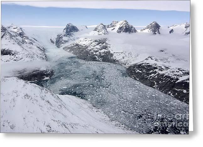 Floating Ice Sheet Greeting Cards - Glacier, Greenland Greeting Card by Nasa