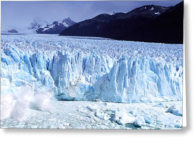 The Natural World Greeting Cards - Glacier, Moreno Glacier, Argentine Greeting Card by Panoramic Images