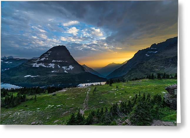Seascape Photography Greeting Cards - Glacier National Park 3 Greeting Card by Larry Marshall