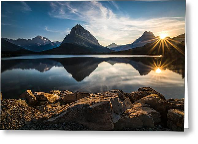 Glacier Greeting Cards - Glacier National Park Greeting Card by Larry Marshall