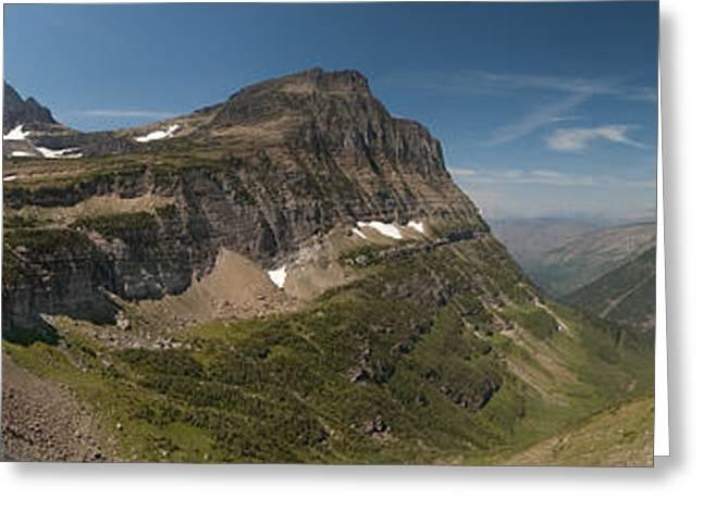 Glacier Greeting Cards - Glacier National Park Panorama Greeting Card by Sebastian Musial