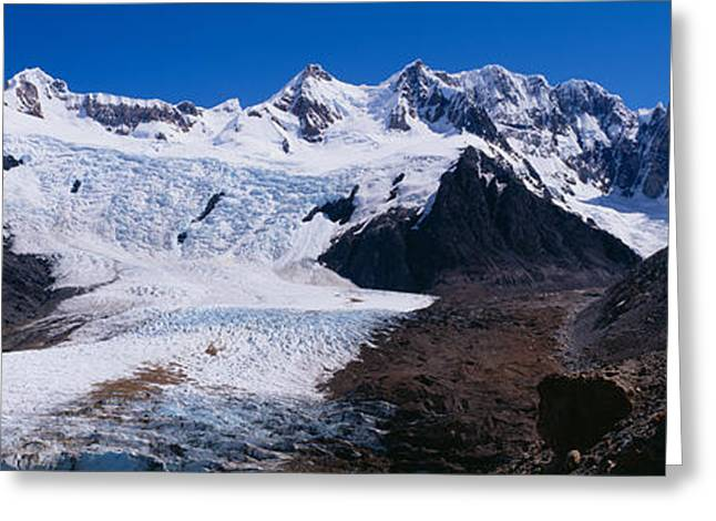 Mountain Greeting Cards - Glacier On A Mountain Range, Argentine Greeting Card by Panoramic Images