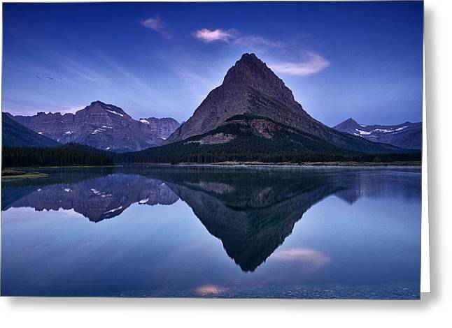 Vista Greeting Cards - Glacier Park Reflection Greeting Card by Andrew Soundarajan