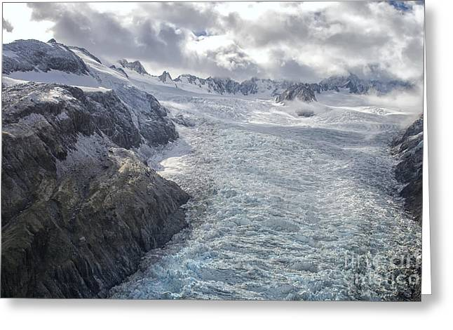 Greenhouse Effect Greeting Cards - Glacier Greeting Card by Patricia Hofmeester