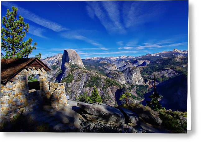 Half Dome Greeting Cards - Glacier Point Yosemite National Park Greeting Card by Scott McGuire