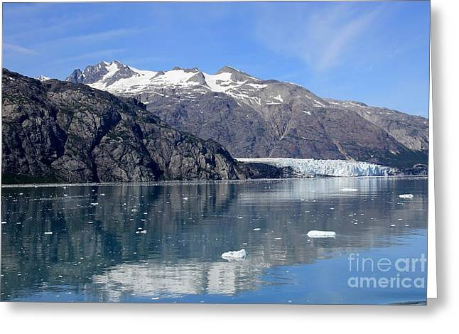 Glacier Bay Greeting Cards - Glacier reflection Greeting Card by Sophie Vigneault