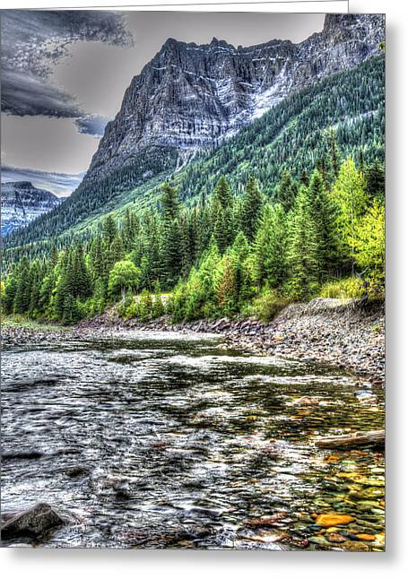 Apgar Greeting Cards - Glacier Stream Greeting Card by Mark Bowmer