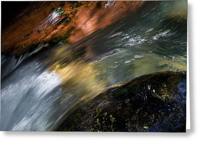 Clean Water Greeting Cards - Glacier Water Glacier National Park Greeting Card by Rich Franco