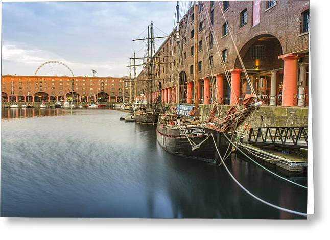 Tall Ships Greeting Cards - Glaciere at the Albert Dock Greeting Card by Paul Madden